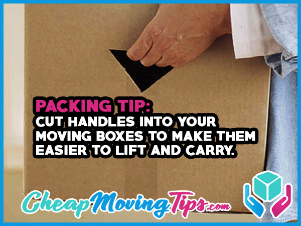 Packing Tip: Cut Handles Into Your Moving Boxes to Make Them Easier to Lift and Carry