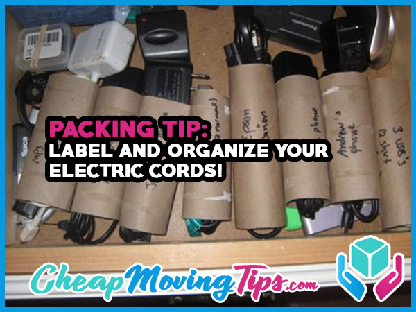 Packing Tip: Label and Organize Your Electric Cords