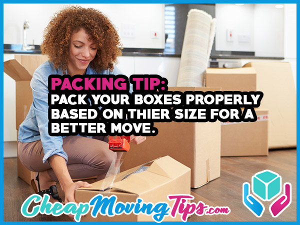 Packing Tip: Pack Your Boxes Properly Based on Their Size for a Better Move