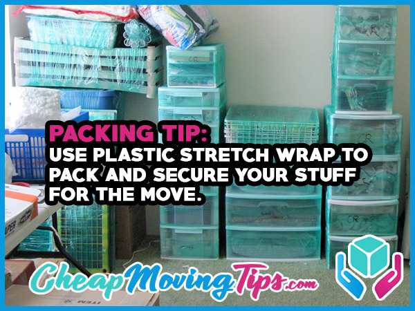 Packing Tip: Use Plastic Stretch Wrap To Pack and Secure Your Stuff for the Move